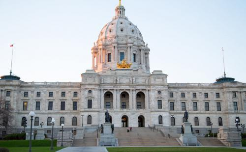 Minnesota state capitol MnSEIA solar energy policy