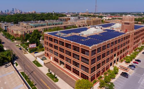 Minnesota solar array in Twin Cities MnSEIA policy