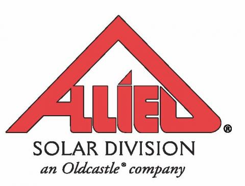 red roof shaped Allied Solar Division Logo