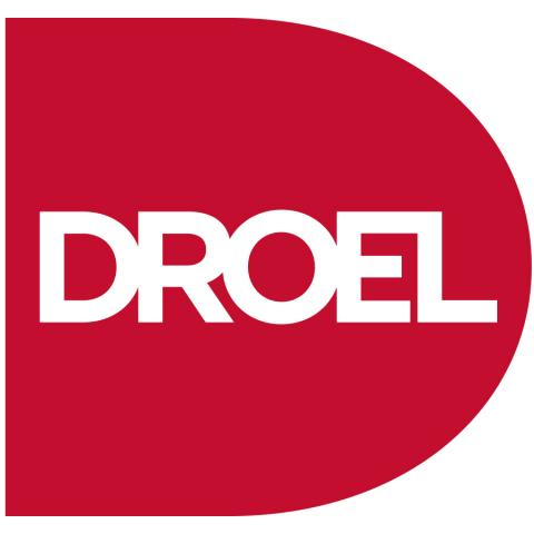 Droel logo reg with while lettering