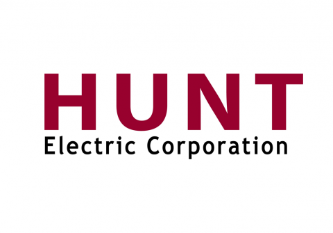red and black HUNT electric corporation logo