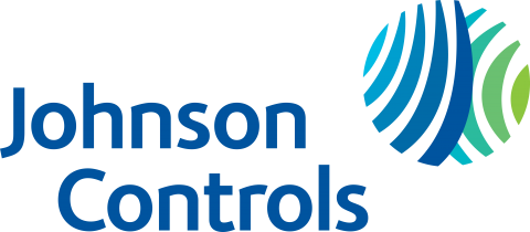 Blue Johnson Controls Logo with blue and green sphere
