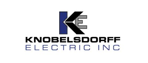 Knoblesdorff stacked logo. Blue and black
