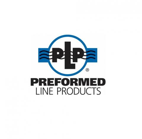 Black and Blue Preformed Line Products PLP Logo