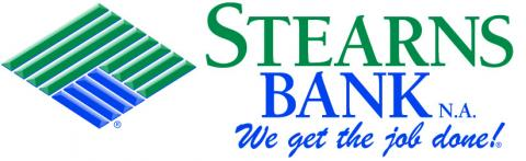 Green and Blue Stearns Bank Logo