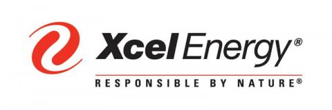 black and red xcel energy logo