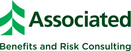 Green Associated Benefits and Risk Consulting logo with green tree