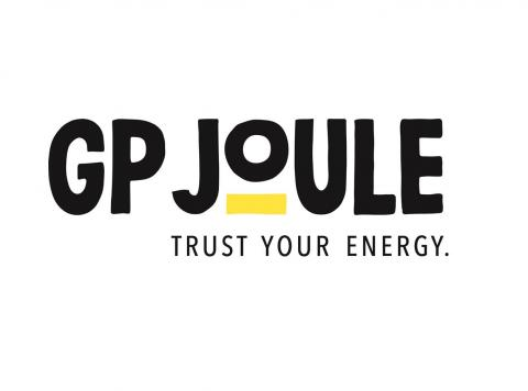 Yellow and Black GP Joule Logo