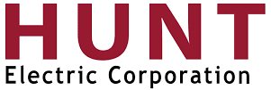 Red HUNT electric coroporation logo