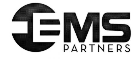 black and white ems partners logo