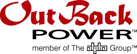 Outback Power logo red and black