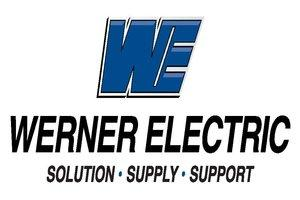 black and navy werner electric logo