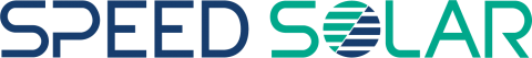 blue and green speed solar logo