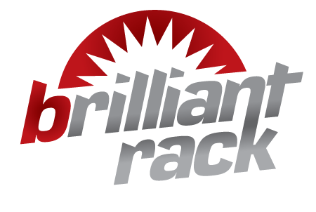 Brilliant Rack Logo Red and Grey