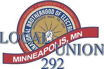 IBEW Local 292 Logo Blue Red & Gold