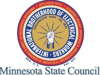 IBEW MN State Council Logo Red Blue & Gold