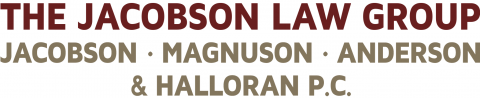 Jacobson Law Group Logo Red & Gold