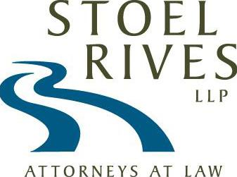 Stoel Rives, LLP Attorneys at Law Logo Gold & Blue
