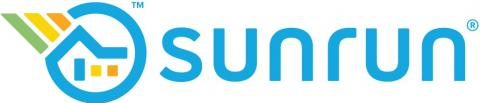 Blue and yellow home logo for sunrun