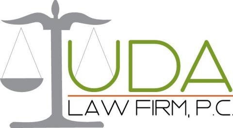 Uda Law Firm, PC Logo Gold & Grey